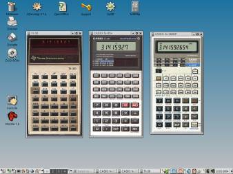 Almetare calculators on KDE desktop